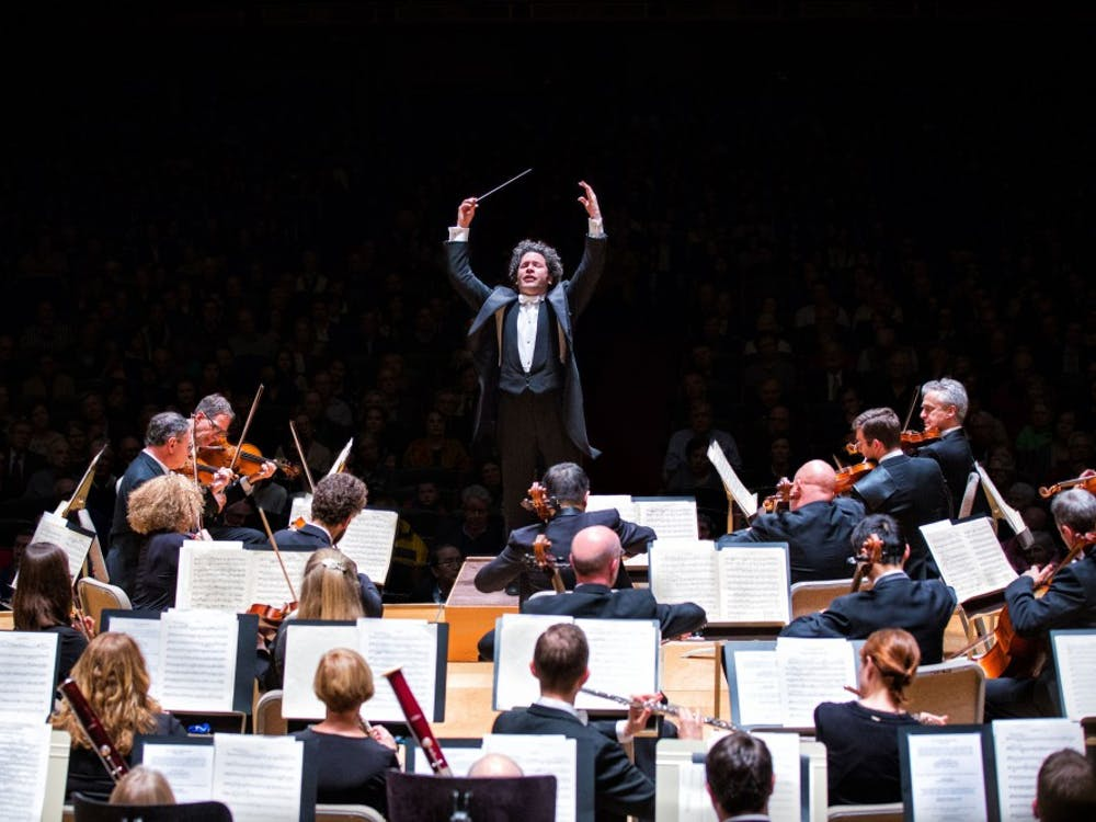 Gustavo Dudamel conducts the Los Angeles Philharmonic Orchestra.  Photo Credit: Robert Torres / Fidelio Arts, Ltd.