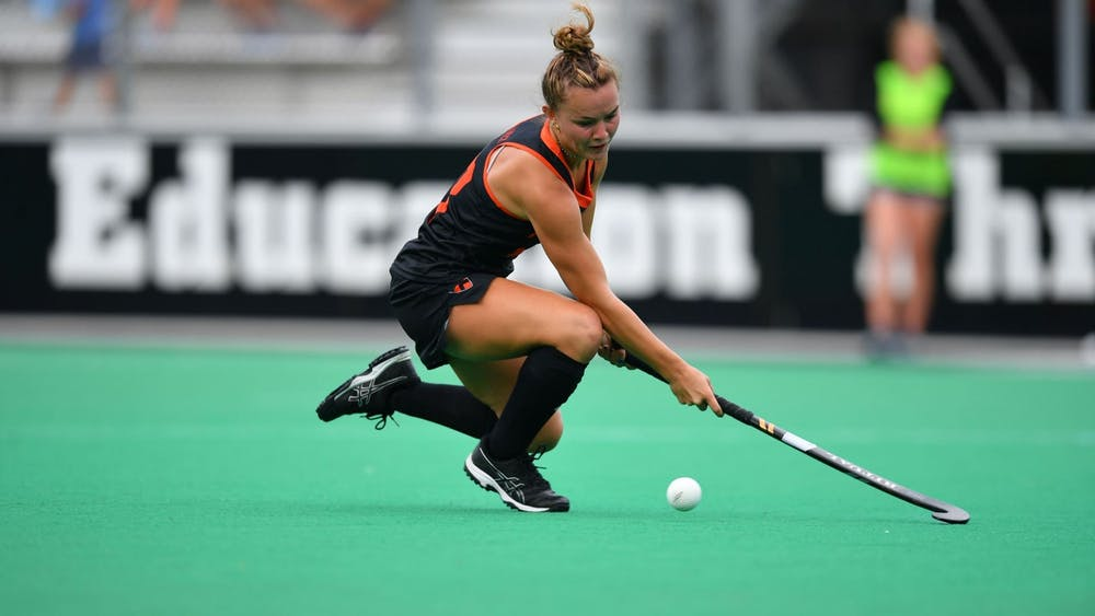 <h5>Sophomore forward Grace Schulze scored a goal during the second period.&nbsp;</h5> <h6>Courtesy of Greg Carrccio   GoPrincetonTigers.com</h6>