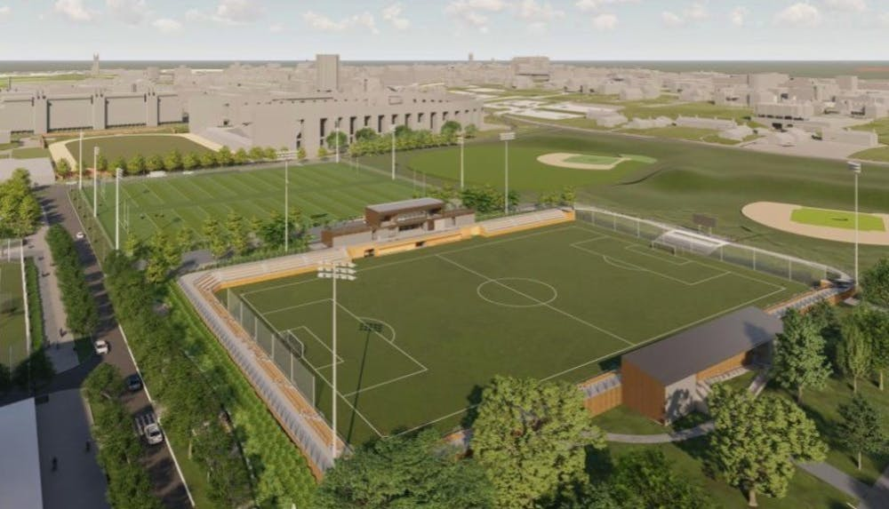 <h5>Design for the new Roberts Stadium on East Campus.&nbsp;</h5> <h6>Courtesy of Princeton University Facilities.</h6>