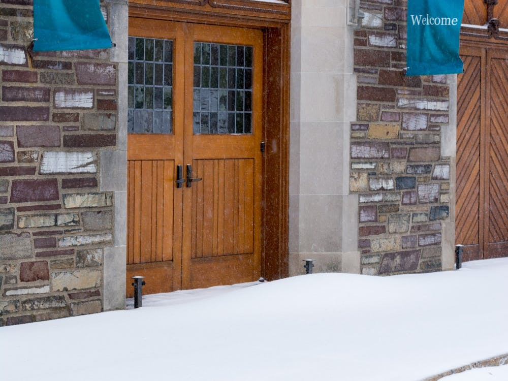 The front entrance to McCarter Theater, largely unused for nearly a year. Julian Gottfried / The Daily Princetonian