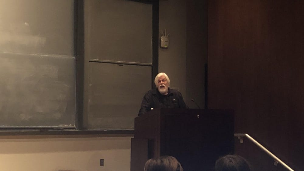 Paul Watson discussed the dangerous campaigns of the Sea Shepherd Conservation Society.  Kris Hristov / The Daily Princetonian
