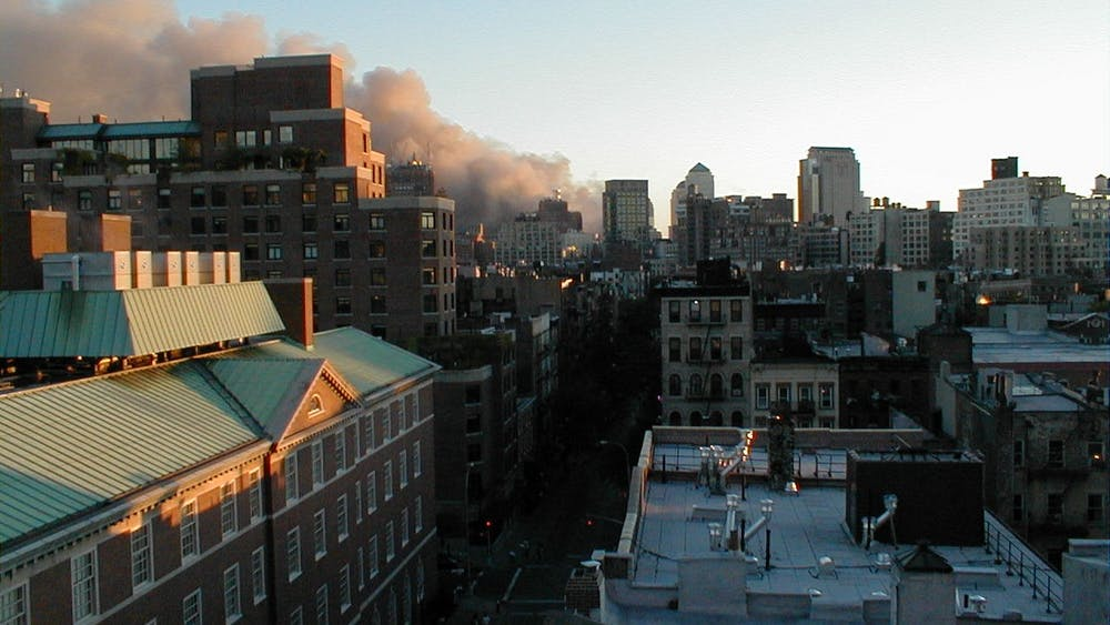 A view of the New York City skyline shortly after the Towers fell. Courtesy of Susan Wheeler