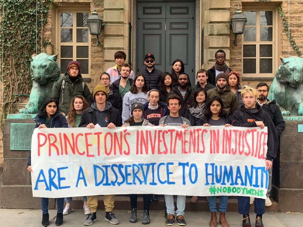 Members of Divest Princeton after submitting their proposal to the CPUC Resources Committee in February.  Courtesy of Anna Hiltner