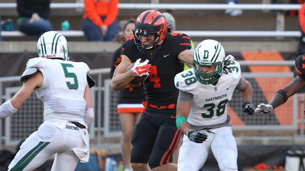 Jesper Horsted led Princeton in receptions in their thrilling win over Dartmouth