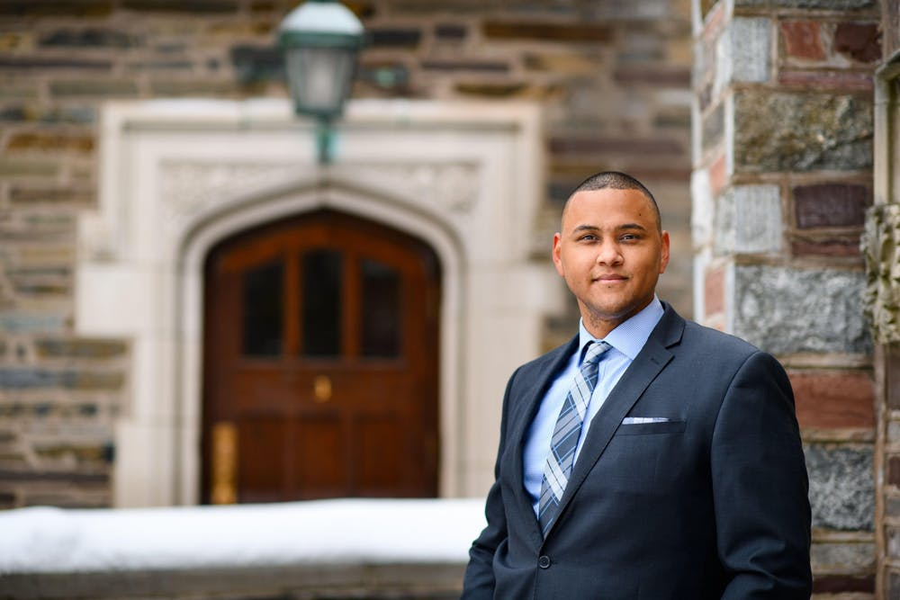 <h5>Mitchel Charles '18, the new Program Coordinator in the Office of the Dean of Undergraduate Students</h5> <h6>Sameer Khan / Fotobuddy</h6>