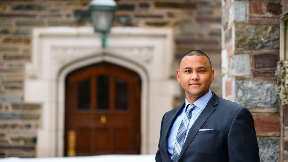 Mitchel Charles '18, the new Program Coordinator in the Office of the Dean of Undergraduate Students Sameer Khan / Fotobuddy