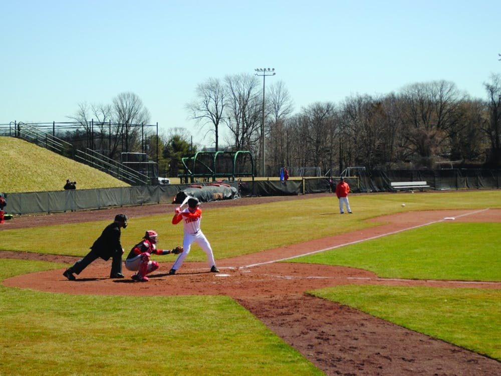 Students practicing baseball at Princeton. Heather Grace / The Daily Princetonian