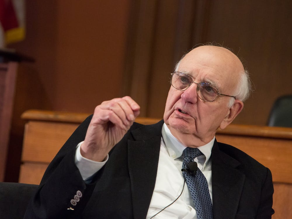 Alumnus and Frederick H. Schultz '51 Professor of International Economic Policy, Emeritus Paul A. Volcker '49 has died at the age of 92. Photo Credit: Edmond J. Safra Center for Ethics / Flickr
