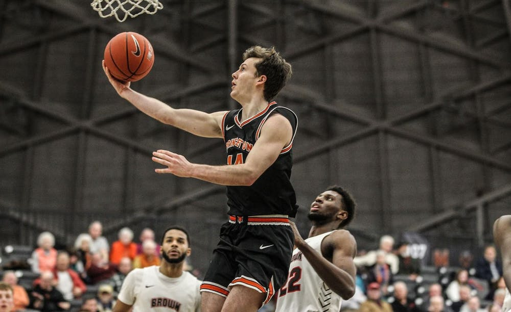 <h6>Photo courtesy of Beverly Schaefer / GoPrincetonTigers.com</h6> <p>Wright goes for a layup in Princeton's game against Brown.</p>