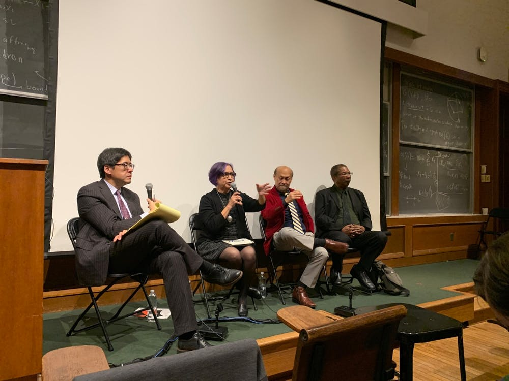 <p>Sam Wang, a neuroscience and molecular biology professor at the University, as well as director of the Princeton Gerrymandering Project, hosted three members of the California's Citizen Redistricting Commission.</p> <h6>Photo Credit: Elizabeth Shwe / The Daily Princetonian</h6>