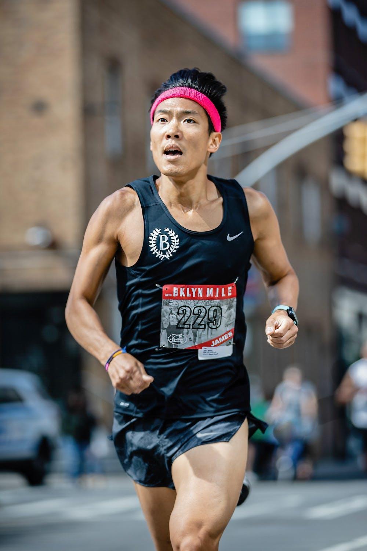<h5>James Chu '00 at the 2019 Brooklyn Mile.</h5> <h6>Courtesy of Ben Ko</h6>