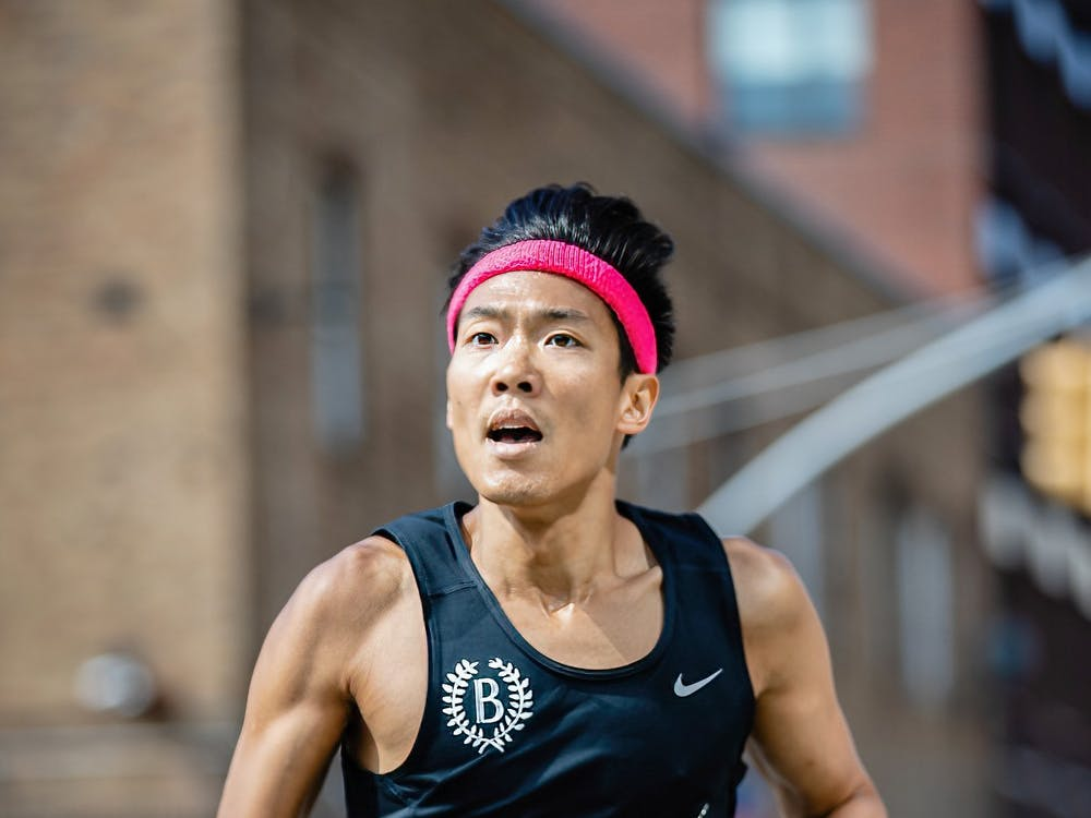 James Chu '00 at the 2019 Brooklyn Mile. Courtesy of Ben Ko