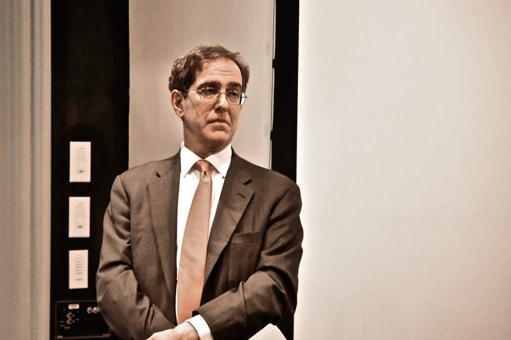 <h6>University President Christopher Eisgruber '83&nbsp;</h6> <h6>Photo Credit: Jon Ort / The Daily Princetonian</h6>