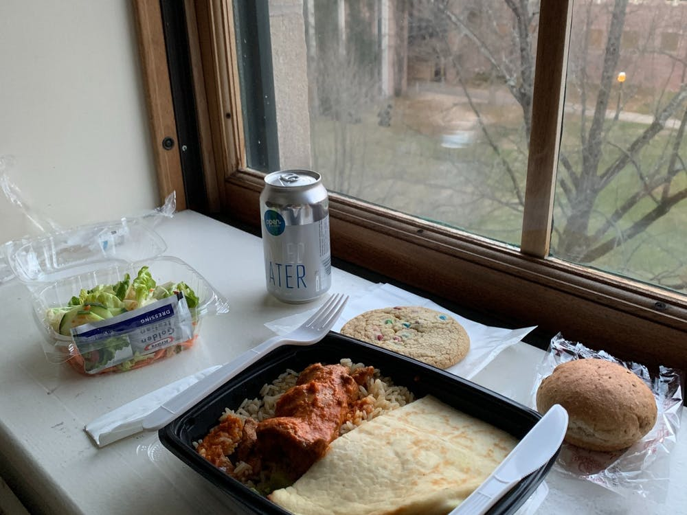 One dinner in arrival quarantine — Indian Butter Chicken. Jack Allen / The Daily Princetonian