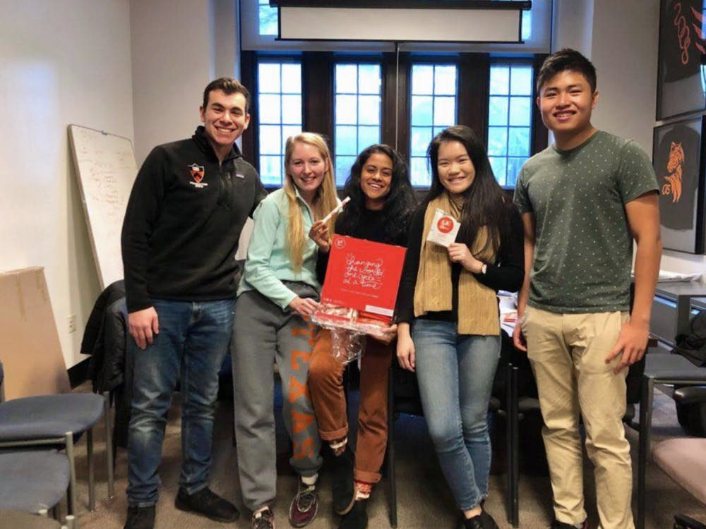 (left-to-right): Mike Asparrin '19, Katherine Fleming '19, Preeti Iyer '20, Wendy Zhao '19, Kevin Zheng '21  Courtesy of Preeti Iyer '20