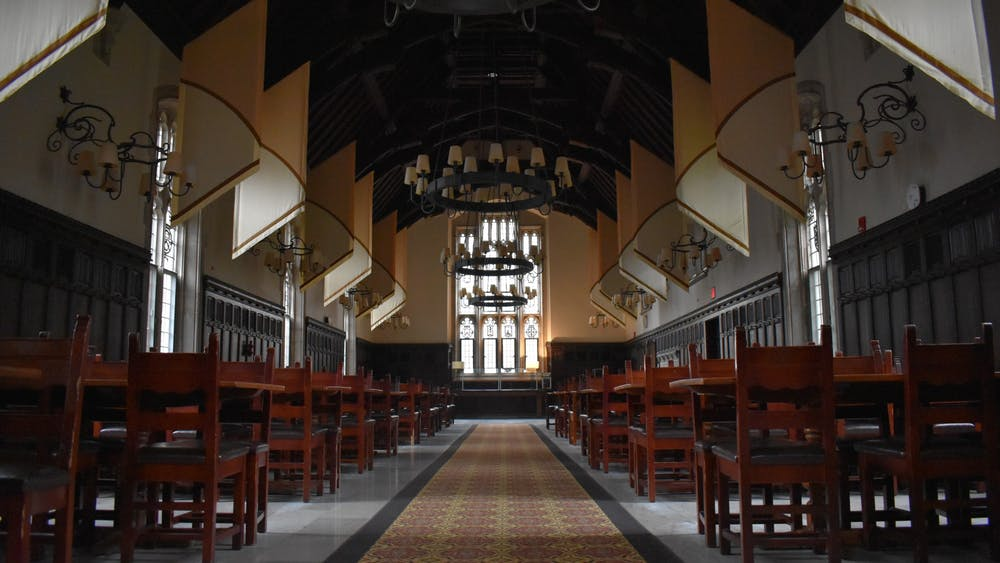 The Mathey College dining hall. Mark Dodici / The Daily Princetonian