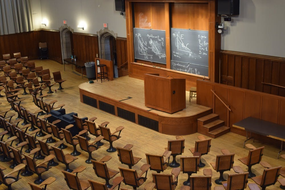 <p>Under current University guidelines, McCosh 50 will be able to accommodate no more than 42 occupants at one time.</p> <h6>Photo Credit: Lazarena Lazarova '21 &nbsp;</h6>