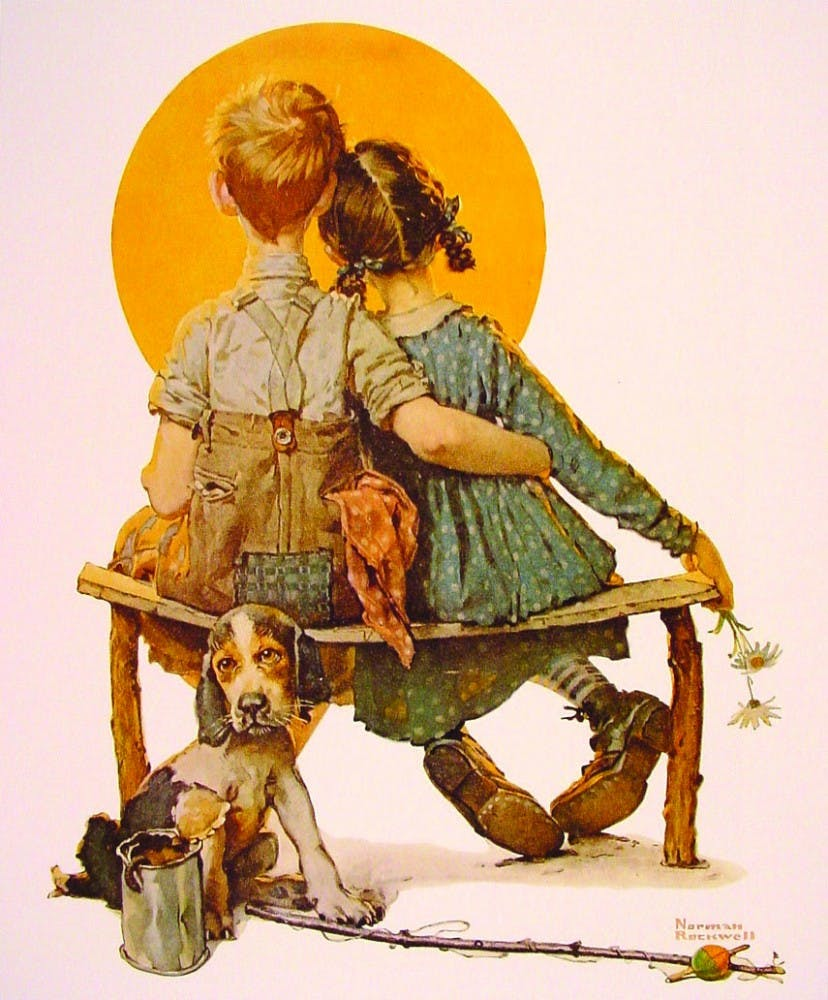 birl_and_girl_gazing_at_the_moon_norman_rockwell_wikiart