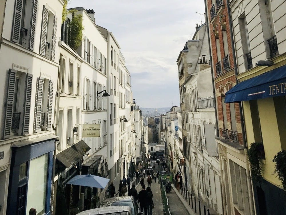 Montmartre in daytime. Mikaela Avakian / The Daily Princetonian