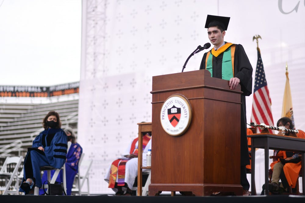 <h5>Taishi Nakase at Princeton University 2021 Commencement</h5> <h6>Charles Sykes &nbsp;/ Associated Press Images for Princeton University</h6>