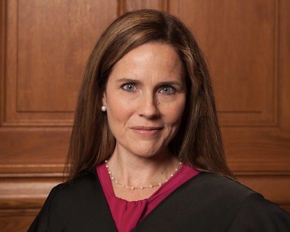 <h5>Judge Amy Coney Barrett in 2018.</h5> <h6>Courtesy of Wikimedia</h6>