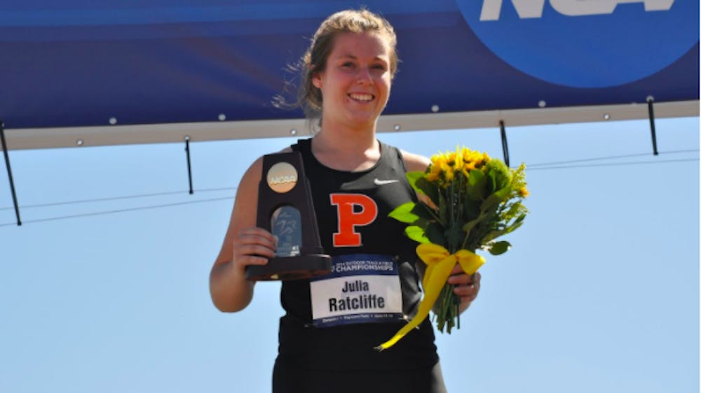 <h5>Julia Ratcliffe '17 will represent New Zealand in the hammer throw at the 2021 Tokyo Olympics.</h5> <h6>Courtesy of Goprincetontigers.com&nbsp;</h6>