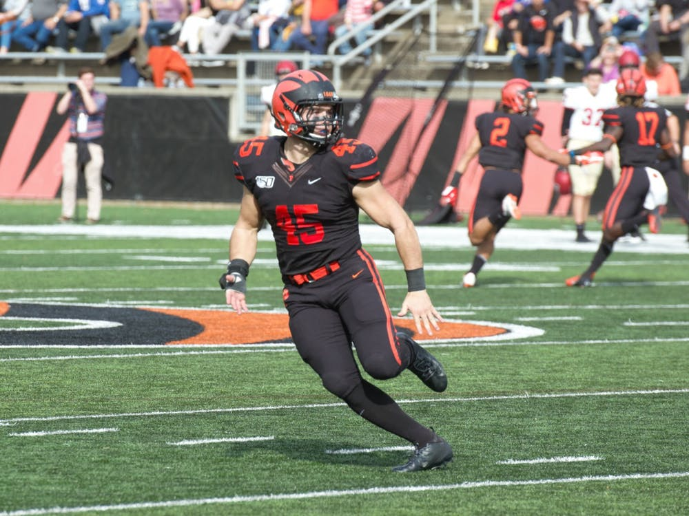 James Johnson and Princeton's defense held Cornell to 7 points Friday. Photo Credit: Jack Graham / The Daily Princetonian