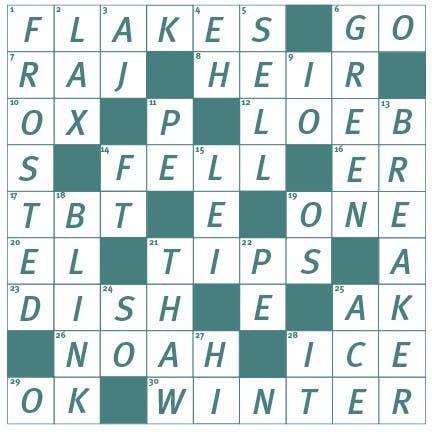 181128 Crossword