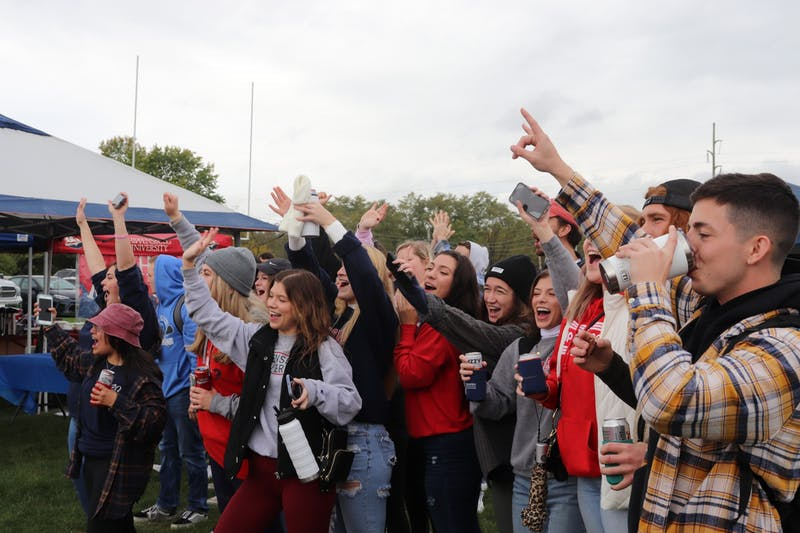 Shippensburg University students and alumni enjoy SU tailgate on Saturday, Oct. 23.