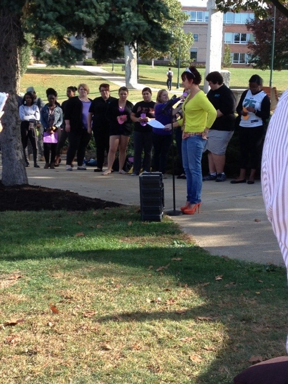 Tulip planting ceremony honors Domestic Awareness Month