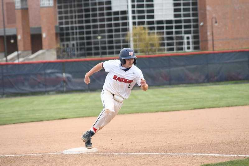 Justin Darden rounds third Friday during SU's doubleheader with Mansfield. Darden finished his weekend with four home runs, launching three in Game 4 Saturday on the road.