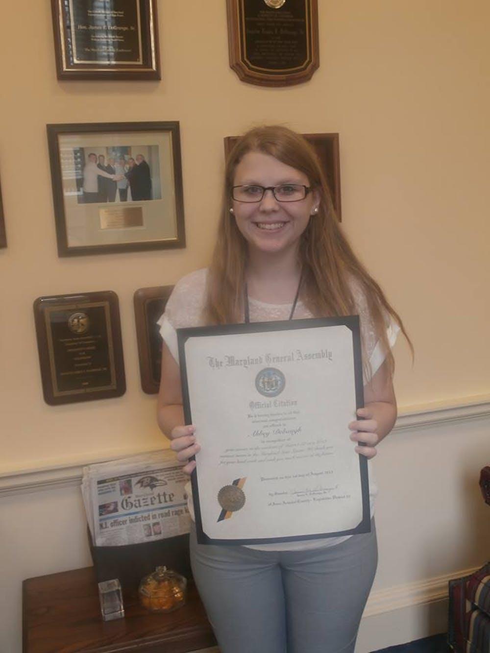 Student Spotlight: Abbey Debaugh active in community