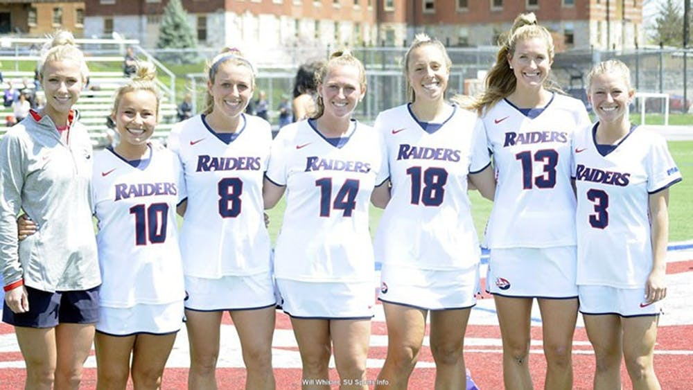 Lacrosse edged on memorable Senior Day by The Rock, 11-10