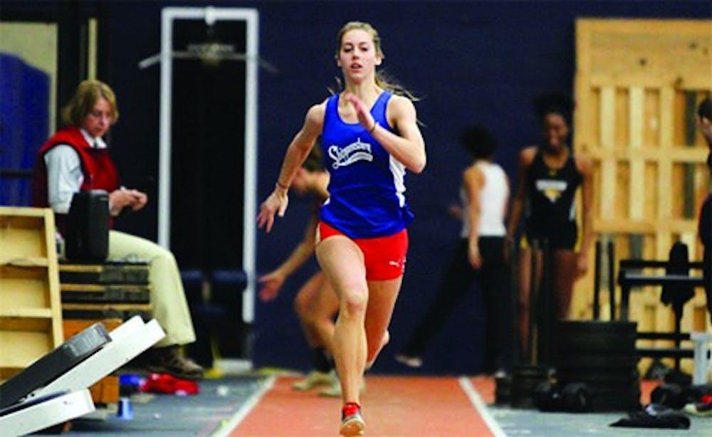 Indoor track and field dominates season opener at Bucknell University