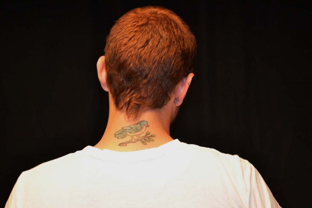 Tattoos are a common sight on campus