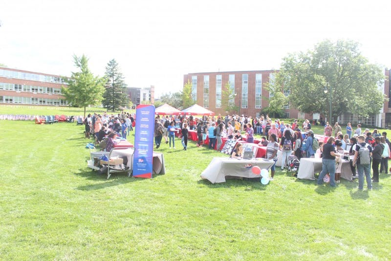 SU's Major/Minor Fair has been held the last four years with the intention of helping students explore the various programs the university has to offer. Every academic department was represented at the fair.