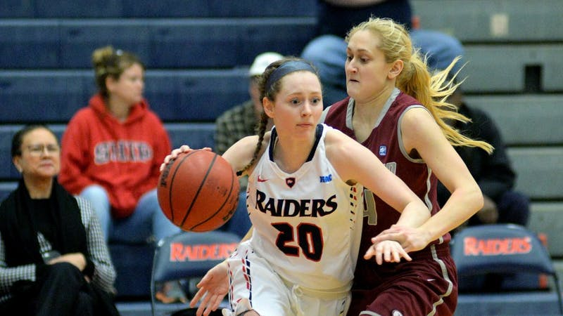 SU's Victoria Blackburn scored a career-high 25 points in the Raiders' 81-59 victory over Lock Haven University on Wednesday night at Heiges Field House. The win was SU's first win in the PSAC this season.