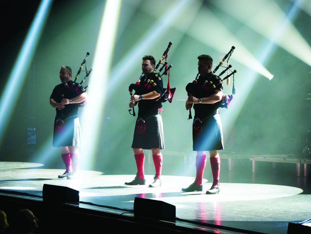 Review: 'Pipers' mix bagpipes and rock in awe-inspiring concert