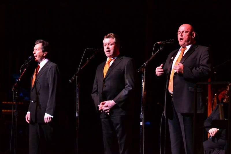 The Irish Tenors performed well-known hits at Luhrs Thursday night.