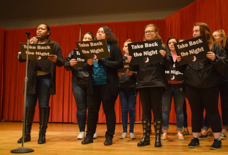 Students marched and rallied in support of ending sexual assault, relationship and domestic violence.