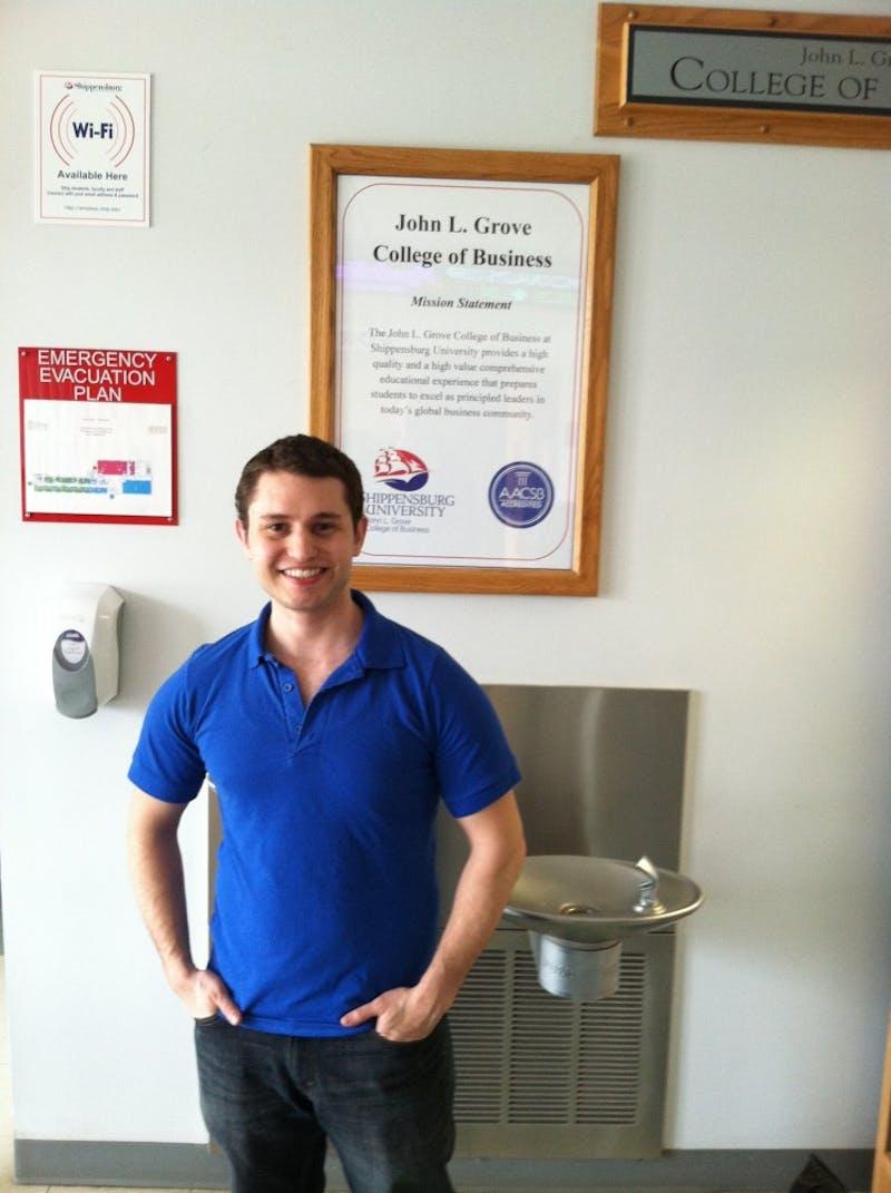 Joshua Rudley is president of the Jewish student organization, Hillel.