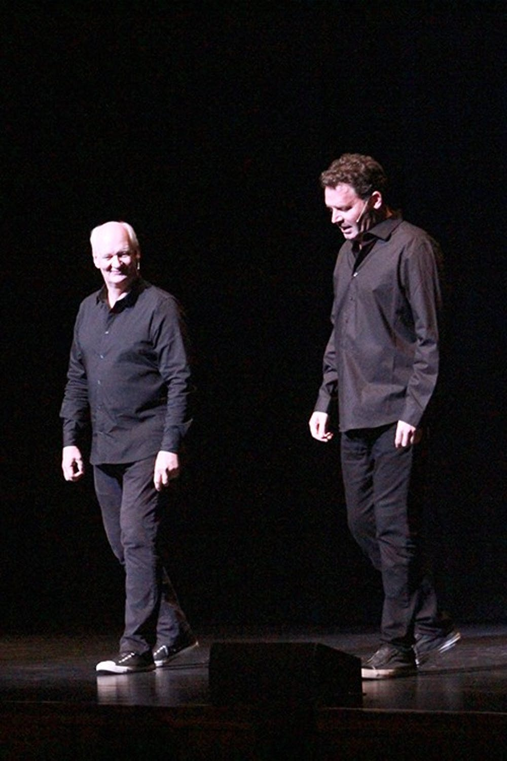 Mochrie and Sherwood: 'Let's make up some crap!' in improv comedy routine