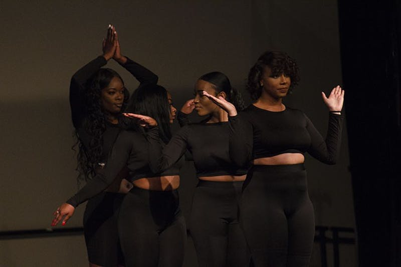 The contestants of the 2018 Miss Diversity Pageant perform a dance to a unique mash-up song of all of the contestants' represented country's traditional music.