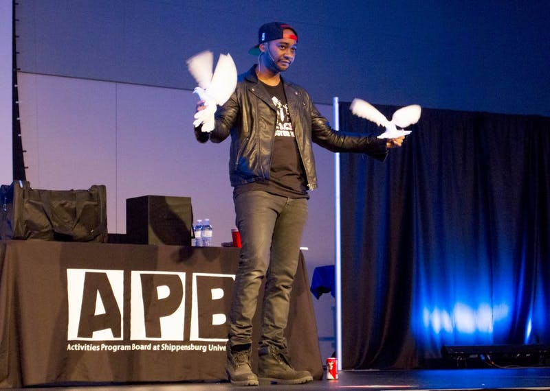 Magician Kid Ace impressed SU students through his elaborate tricks. His performance included mind reading, refilling an empty soda can and transforming paper into multiple birds.