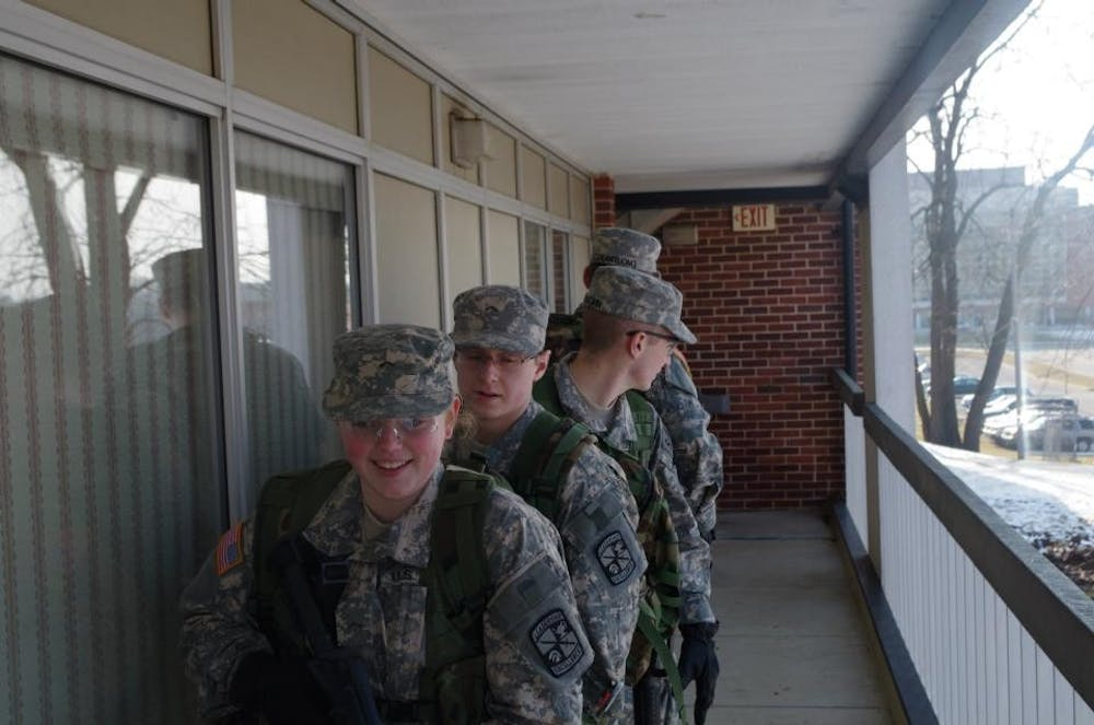 ROTC takes advantage of old buildings on campus