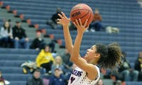 Sophomore Ariel Jones totals 56 points over the two wins this weekend.