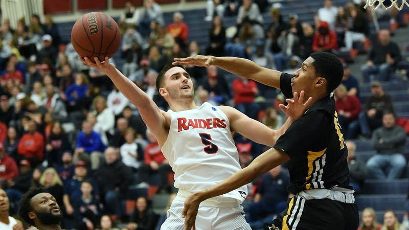 Redshirt-junior Dom Sleva was a key component to the Raiders 24-7, 2019-20 season. In the process, he averaged 9.6 points, 0.7 assists and 6.7 rebounds per game.