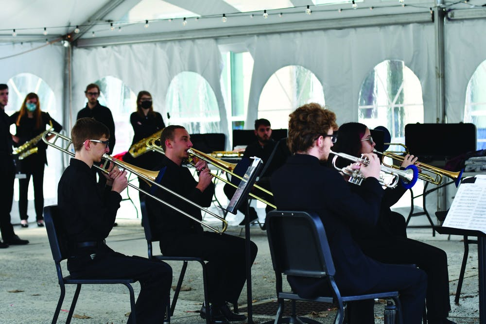 Music department hosts outdoor concert to public