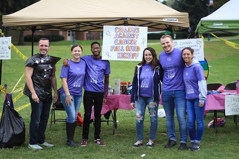 SU students participated in the first Colleges Against Cancer event Wednesday in the university's academic quad by winning prizes through games.