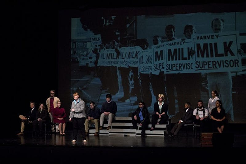 """Act V pays tribute to LGBT activist Harvey Milk in its performance of """"Dear Harvey."""" The play lets viewers in on the impact Harvey made during his life."""